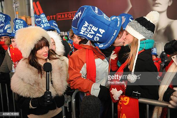 Actress Natasha Leggero attends New Year's Eve 2013 With Carson Daly in Times Square on December 31 2013 in New York City