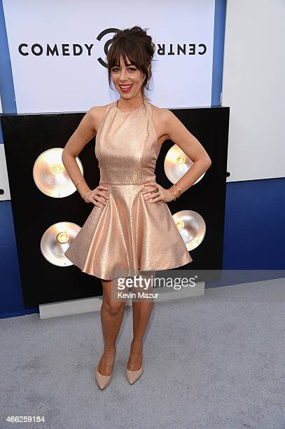 Actress Natasha Leggero attends The Comedy Central Roast of Justin Bieber at Sony Pictures Studios on March 14 2015 in Los Angeles California