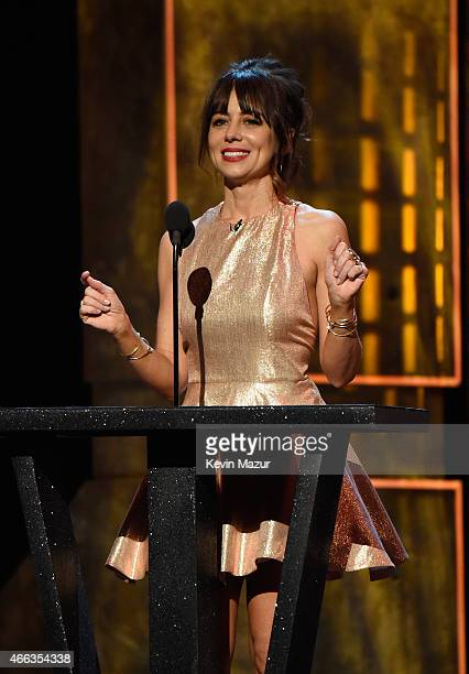 Actress Natasha Leggero speaks onstage at The Comedy Central Roast of Justin Bieber at Sony Pictures Studios on March 14 2015 in Los Angeles...