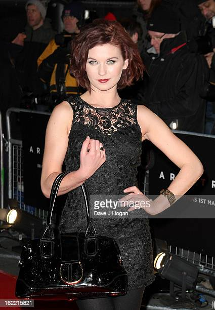 Actress Natasha Leigh attends the UK premiere of Arbitrage at Odeon West End on February 20 2013 in London England