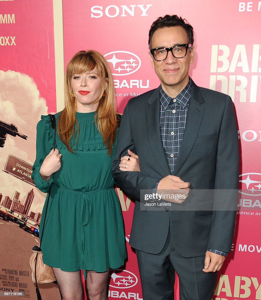 Actress Natasha Lyonne and actor Fred Armisen attend the premiere of 'Baby Driver' at Ace Hotel on June 14, 2017 in Los Angeles, California.