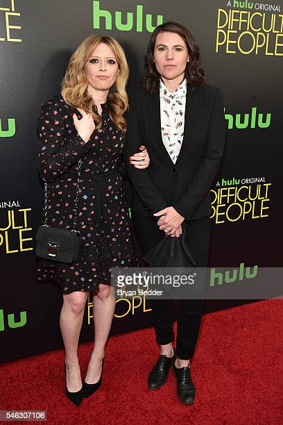 Actress Natasha Lyonne and Clea Duvall attend the Hulu Original Difficult People premiere at Metrograph on July 11 2016 in New York City