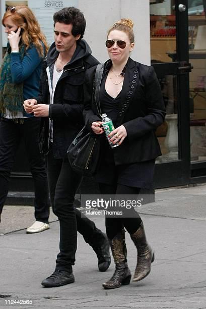 Actress Natasha Lyonne and friend walk in SoHo April 27 2008 in New York City