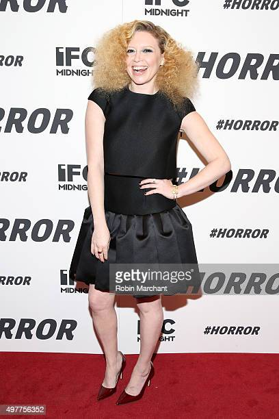 Actress Natasha Lyonne attends the New York premiere of '#Horror' at MoMA Titus One on November 18 2015 in New York City