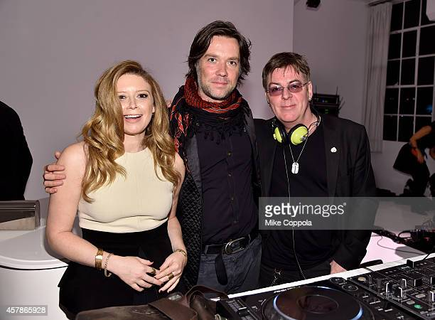 Actress Natasha Lyonne musician Rufus Wainwright and musician Andy Rourke attend LilySarahGrace Presents Color Outside The Lines on October 25 2014...