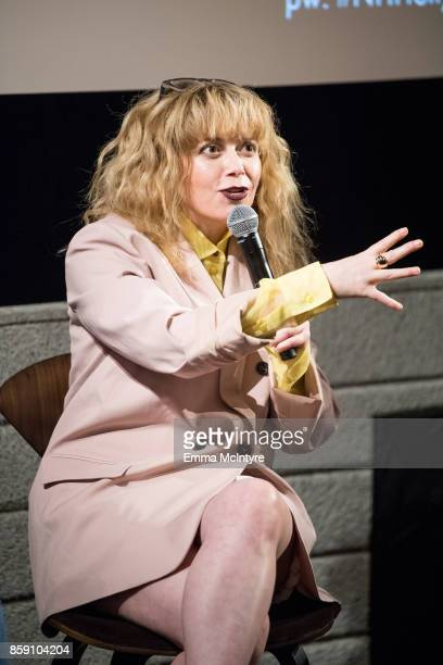 Actress Natasha Lyonne speaks onstage at 'Women Under the Influence hosts a special screening of Natasha Lyonne's directorial debut for Kenzo with...
