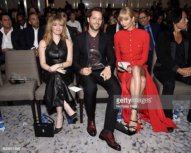 99f29aafe2d8 Actress Natasha Lyonne writer Derek Blasberg and model Karlie Kloss attend  the The Daily Front Row s
