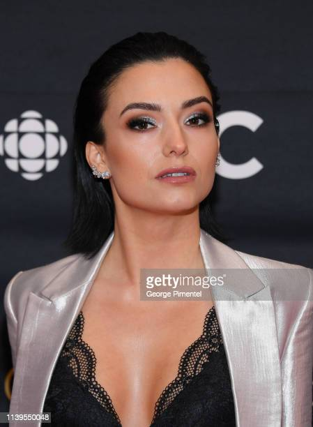 Actress Natasha Negovanlis attends the 2019 Canadian Screen Awards Broadcast Gala at Sony Centre for the Performing Arts on March 31 2019 in Toronto...