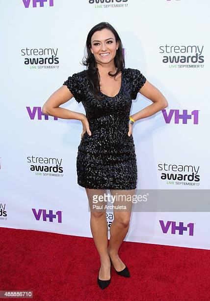 Actress Natasha Negovanlis attends the 5th Annual Streamy Awards at The Hollywood Palladium on September 17 2015 in Los Angeles California