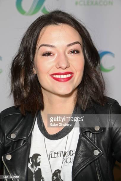 Actress Natasha Negovanlis attends the ClexaCon 2017 convention at Bally's Las Vegas on March 4 2017 in Las Vegas Nevada