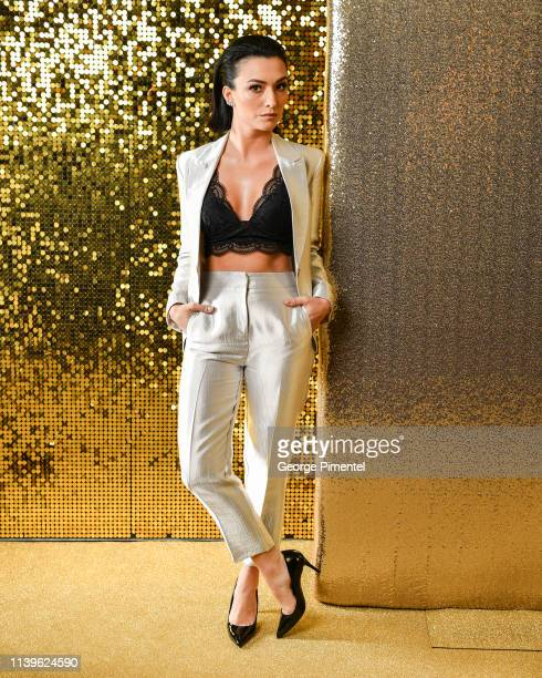 Actress Natasha Negovanlis pose inside the 2019 Canadian Screen Awards Portrait Studio held at Sony Centre for the Performing Arts on March 31 2019...