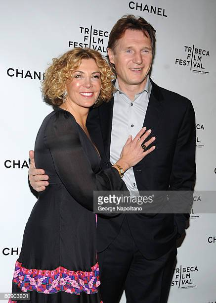 Actress Natasha Richardson and actor Liam Neeson attend the 3rd Annual Chanel Dinner Party on April 28 2008 at AGO at the Greenwich Hotel in New York...