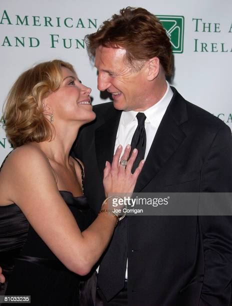 Actress Natasha Richardson and actor Liam Neeson attend the American Ireland Fund's 33rd Annual New York Gala Fundraiser at The Tent at Lincoln...