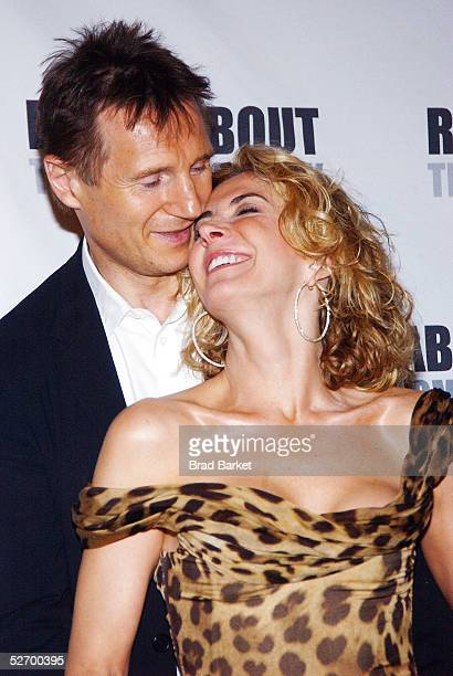 Actress Natasha Richardson and actor Liam Neeson leave Studio 54 after the opening of 'A Streetcar Named Desire' on April 26 2005 in New York