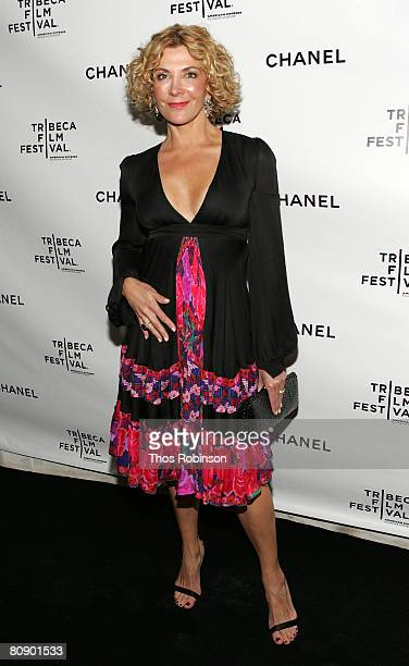 Actress Natasha Richardson arrives at the Chanel Dinner held at the Greenwich Hotel during the 2008 Tribeca Film Festival on April 28 2008 in New...