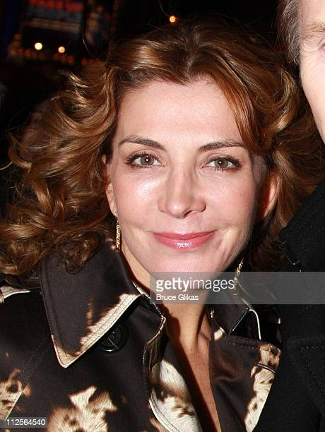 Actress Natasha Richardson poses as he arrives for the Opening Night performance of Conor McPherson's play The Seafarer on Broadway at The Booth...