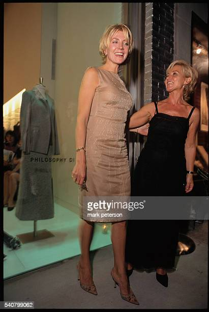 Actress Natasha Richardson with Alberta Ferretti at the opening of Ferretti's new clothing store in Manhattan Richardson is wearing a dress designed...