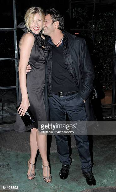 Actress Natasha Stefanenko and her husband Luca Sabbioni attend the Carlo Pignatelli cocktail party at Corso Como 10 on January 17 2009 in Milan Italy
