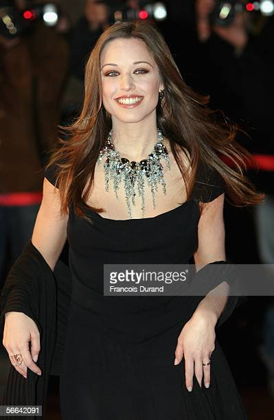 Actress Natasha StPier arrives at the NRJ Music Awards 2006 at the Palais des Festivals on January 21 2006 in Cannes France The annual awards...