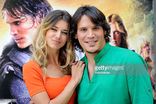Actress Natasha Yarovenko and actor Sergio PerisMencheta attend 'Capitan Trueno' photocall at the Academia del Cine on October 6 2011 in Madrid Spain