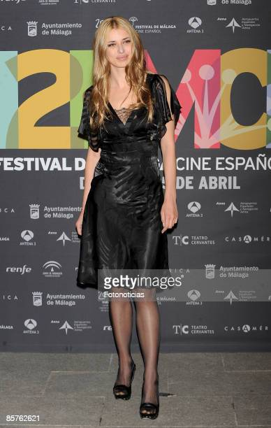 Actress Natasha Yarovenko attends the 12th Malaga Film Festival presentation party held at Casa de America on April 1 2009 in Madrid Spain