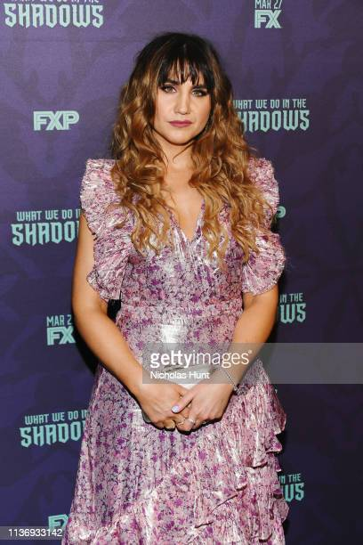 """Actress Natasia Demetriou attends the """"What We Do In The Shadows"""" New York Premiere at Metrograph on March 19, 2019 in New York City."""