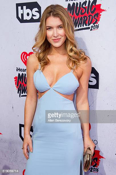 Actress Nathalia Ramos arrives at the iHeartRadio Music Awards at The Forum on April 3 2016 in Inglewood California
