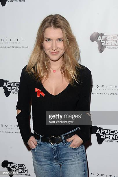 Actress Nathalia Ramos arrives at the Inaugural World AIDS Day Benefit at Sofitel Hotel on December 1 2015 in Los Angeles California