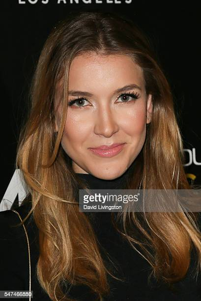 Actress Nathalia Ramos arrives at the Launch of OUE Skyspace LA at the US Bank Tower on July 14 2016 in Los Angeles California
