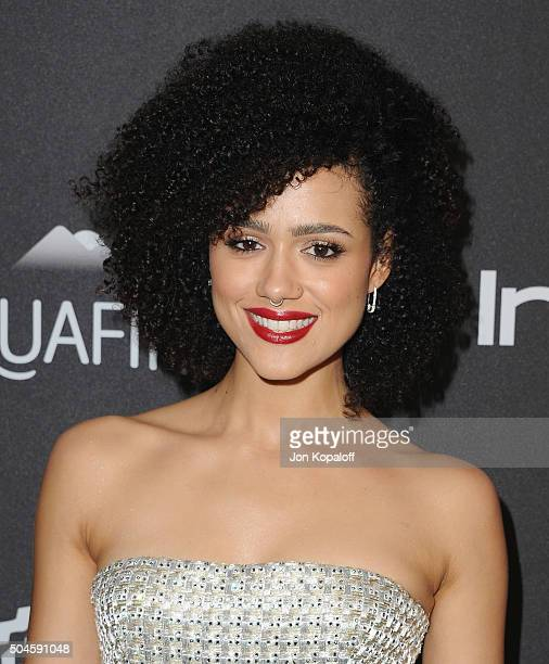Actress Nathalie Emmanuel arrives at the 2016 InStyle And Warner Bros 73rd Annual Golden Globe Awards PostParty at The Beverly Hilton Hotel on...
