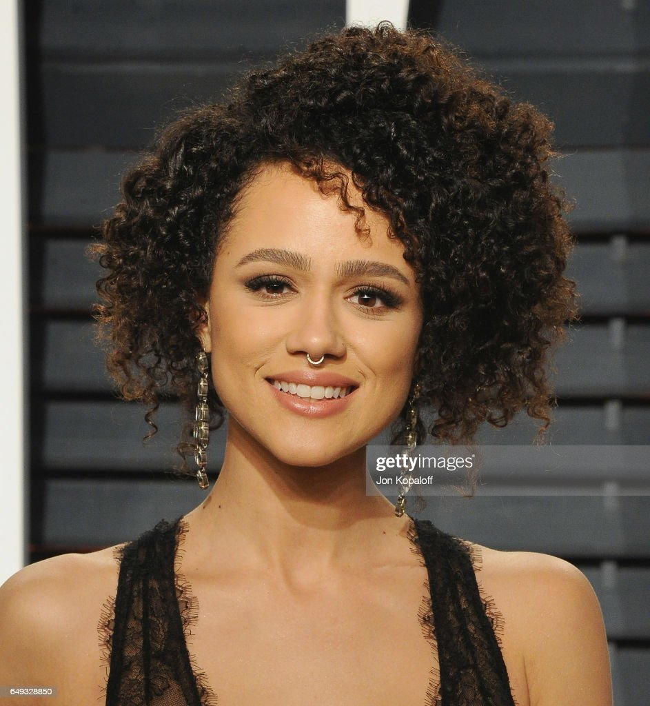 Actress Nathalie Emmanuel arrives at the 2017 Vanity Fair Oscar Party Hosted By Graydon Carter at Wallis Annenberg Center for the Performing Arts on February 26, 2017 in Beverly Hills, California.