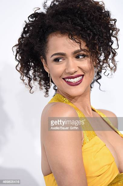 Actress Nathalie Emmanuel arrives at the Los Angeles premiere of 'Furious 7' at TCL Chinese Theatre IMAX on April 1 2015 in Hollywood California