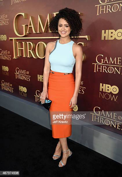 Actress Nathalie Emmanuel attends HBO's 'Game of Thrones' Season 5 Premiere and After Party at the San Francisco Opera House on March 23 2015 in San...