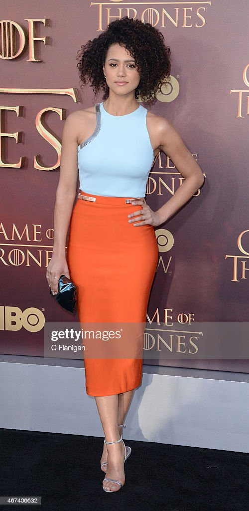 Actress Nathalie Emmanuel attends HBO's 'Game of Thrones' Season 5 Premiere at the San Francisco War Memorial Opera House on March 23, 2015 in San Francisco, California.