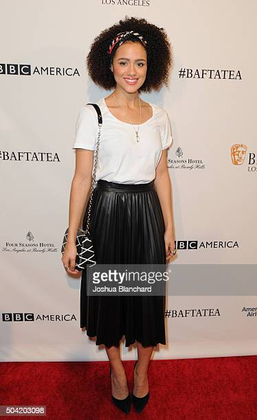 Actress Nathalie Emmanuel attends the BAFTA Los Angeles Awards Season Tea at Four Seasons Hotel Los Angeles at Beverly Hills on January 9 2016 in Los...
