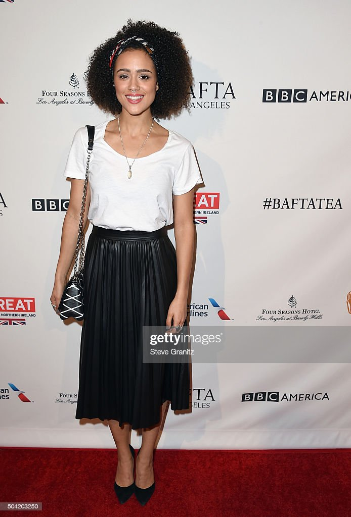 Actress Nathalie Emmanuel attends the BAFTA Los Angeles Awards Season Tea at Four Seasons Hotel Los Angeles at Beverly Hills on January 9, 2016 in Los Angeles, California.