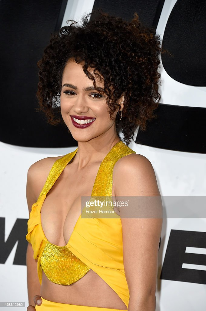 Actress Nathalie Emmanuel attends Universal Pictures' 'Furious 7' premiere at TCL Chinese Theatre on April 1, 2015 in Hollywood, California.
