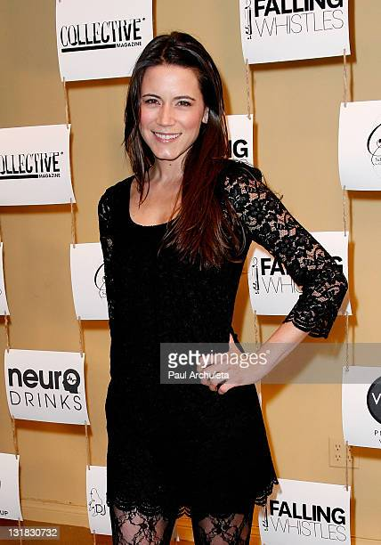 Actress Nathalie Fay arrives at the Human Rights Day celebration benefiting Falling Whistles Organization at Tufenkian Gallery on December 10 2010 in...
