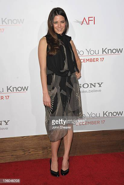 Actress Nathalie Fay arrives to the How Do You Know Los Angeles Premiere at Regency Village Theatre on December 13 2010 in Westwood California