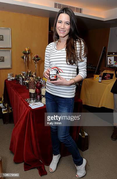 Actress Nathalie Fay poses at the 2011 DPA Golden Globes Gift Suite at the L'Ermitage Hotel on January 13 2011 in Beverly Hills California