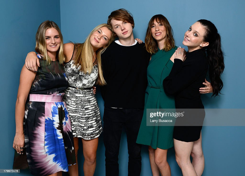 Actress Nathalie Love, actress Zoe Levin, actor Jack Kilmer, director Gia Coppola and actress Claudia Levy of 'Palo Alto' pose at the Guess Portrait Studio during 2013 Toronto International Film Festival on September 7, 2013 in Toronto, Canada.