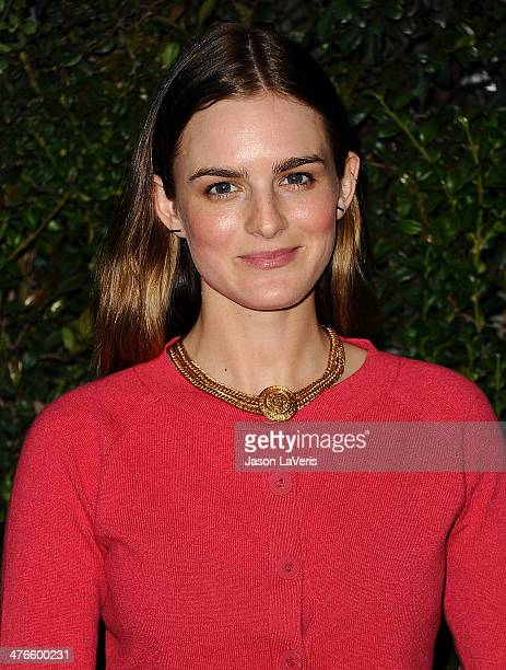 Actress Nathalie Love attends the Chanel and Charles Finch preOscar dinner at Madeo Restaurant on March 1 2014 in Los Angeles California