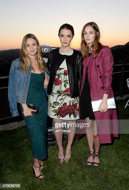 Actress Nathalie Love Bee Shaffer and model Laura Love attend the Burberry 'London in Los Angeles' event at Griffith Observatory on April 16 2015 in...