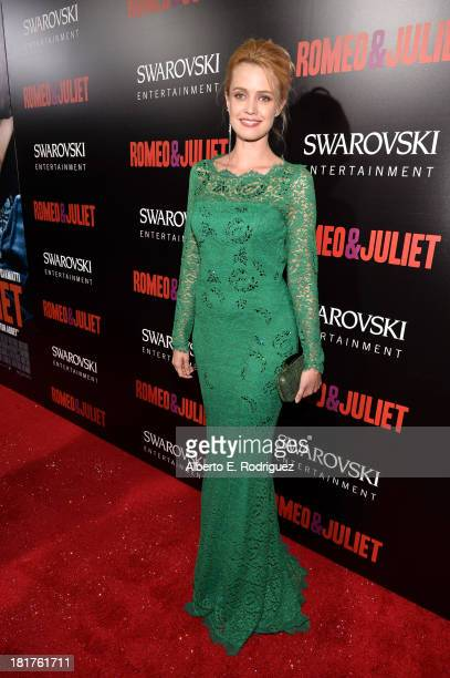 Actress Nathalie Rapti Gomez arrives at the premiere of Relativity Media's Romeo Juliet at ArcLight Hollywood on September 24 2013 in Hollywood...