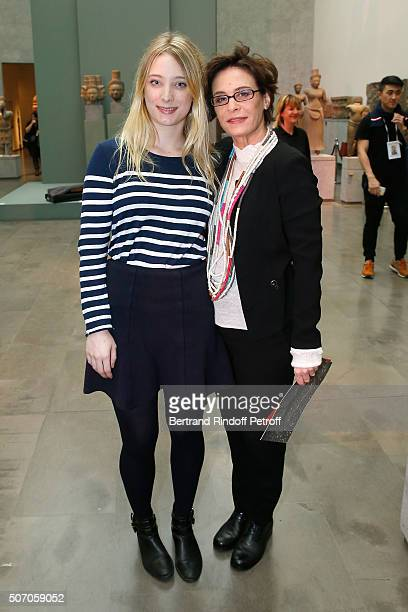 Actress Nathalie Roussel and her daughter Marie Toscan du Plantier attend the Franck Sorbier Spring Summer 2016 show as part of Paris Fashion Week...