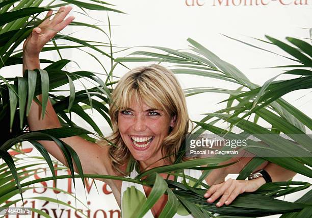 Actress Nathalie Vincent attends a photocall promoting the television serie 'Navarro' on the first day of the 2007 Monte Carlo Television Festival...