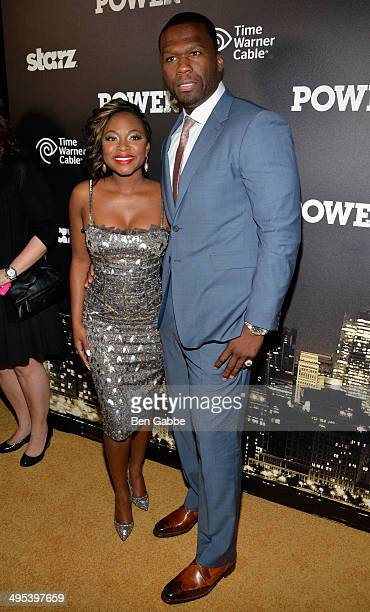 Actress Naturi Naughton and executive producer Curtis '50 Cent' Jackson attend the 'Power' premiere on June 2 2014 in New York City