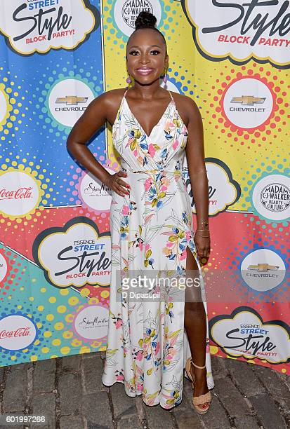 Actress Naturi Naughton attends the 2016 Essence Street Style Block Party at DUMBO on September 10 2016 in Brooklyn Borough of New York City