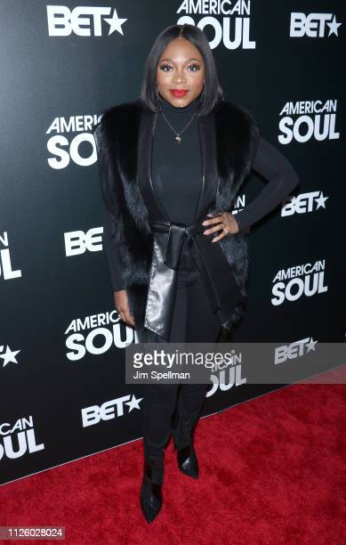 Actress Naturi Naughton attends the BET's American Soul New York premiere at New World Stages on January 29 2019 in New York City