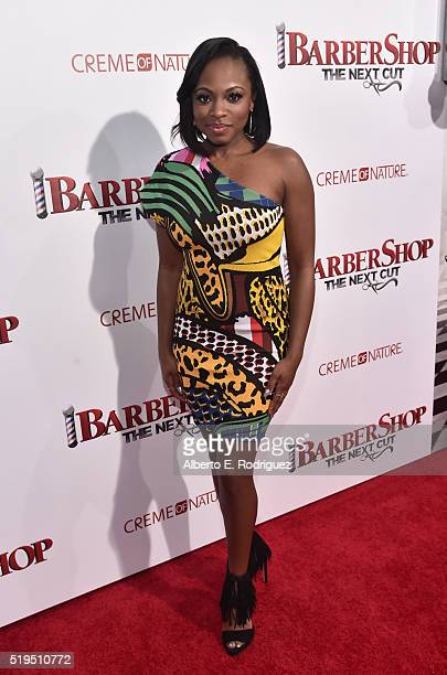 Actress Naturi Naughton attends the premiere of New Line Cinema's Barbershop The Next Cut at the TCL Chinese Theatre IMAX on April 6 2016 in...